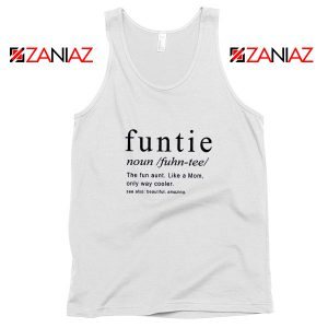 Buy Funtie Women Tank Top Funny Aunt Best Tank Top Size S-3XL White