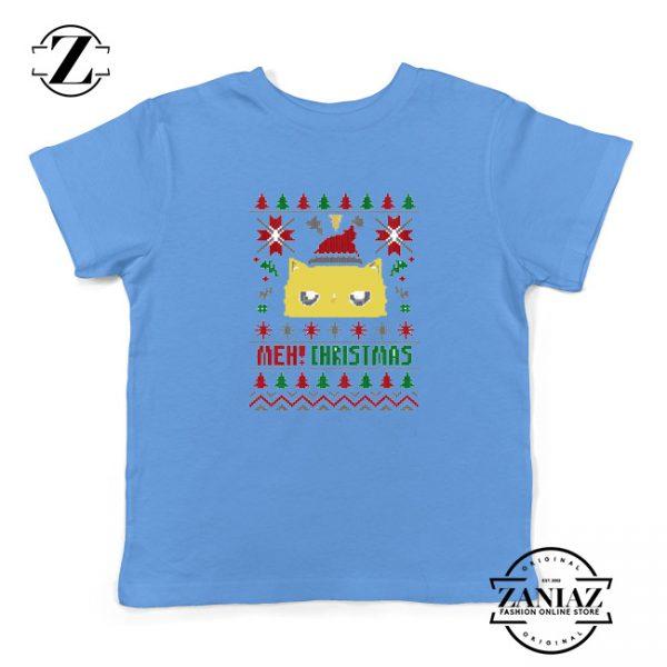 Buy MEOW Christmas Kids T-Shirt Ugly Christmas Size S-XL Blue