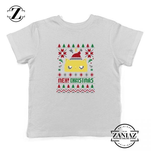 Buy MEOW Christmas Kids T-Shirt Ugly Christmas Size S-XL White
