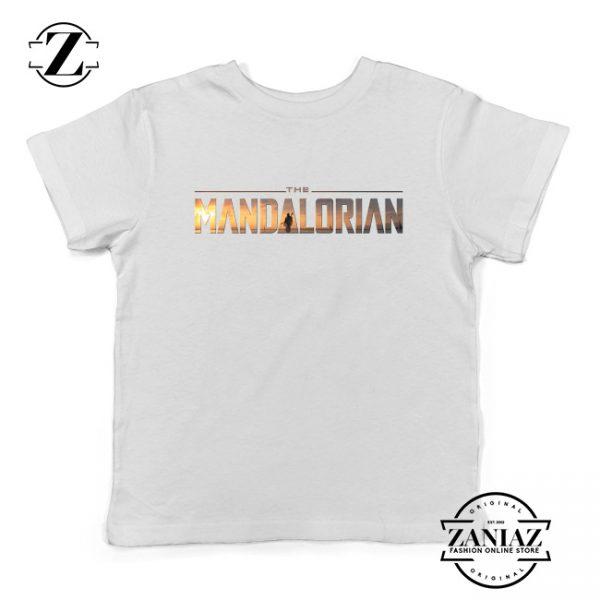 Buy Mandalorian Logo Kids Shirts Star Wars Best Youth T-Shirt Size S-XL White