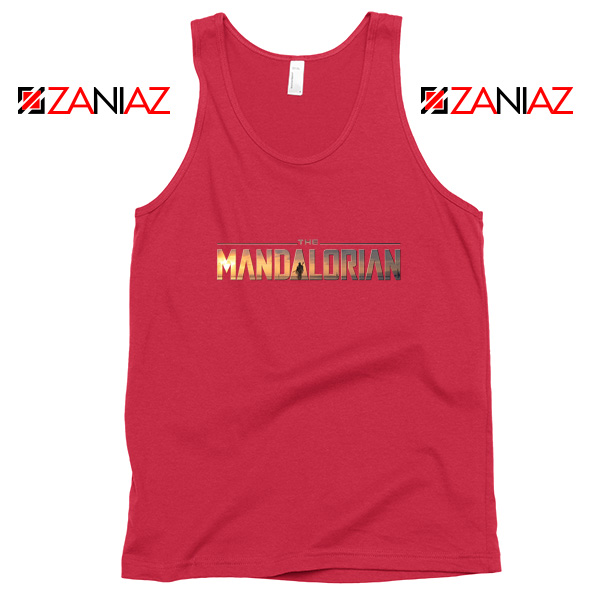 Buy Mandalorian Logo Tank Top Star Wars Best Tank Top Size S-3XL Red