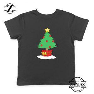 Christmas Tree Kids T-Shirt Ugly Christmas Youth Shirt Size S-XL Black