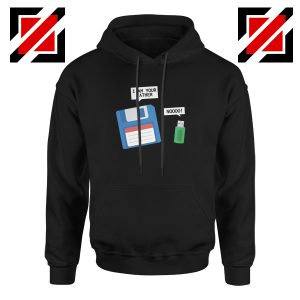 Computer Tech USB Father Hoodie Floppy Disk Hoodie Size S-2XL