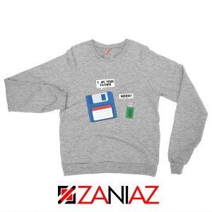 Computer Tech USB Father Sweatshirt Floppy Disk Sweatshirt Size S-2XL