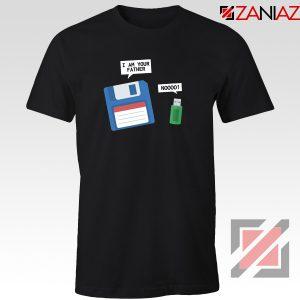 Computer Tech USB Father Tee Shirt Floppy Disk T-Shirt Size S-3XL