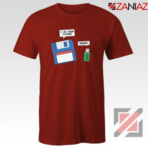 Computer Tech USB Father Tee Shirt Floppy Disk T-Shirt Size S-3XL Red