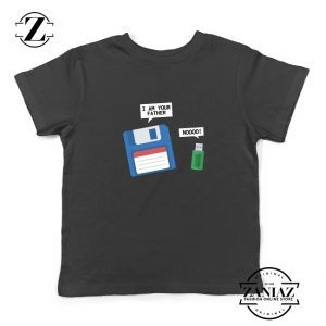 Computer Tech USB Father Youth T-Shirt Floppy Disk Kids Shirt Size S-XL