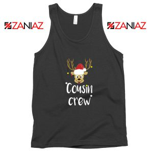 Cousin Crew Tank Top Family Christmas Tank Top Size S-3XL Black