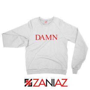 DAMN Album Sweatshirt Kendrick Lamar Sweatshirt Size S-2XL White
