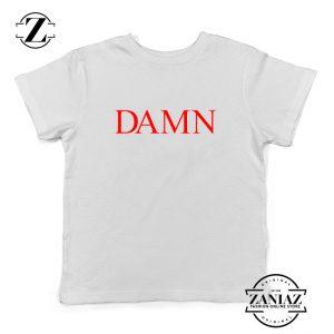 DAMN Album Youth Shirts Kendrick Lamar Kids T-Shirt Size S-XL White