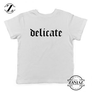 Delicate Lyrics Youth Shirts Taylor Swift Best Kids T-shirt Size S-XL White