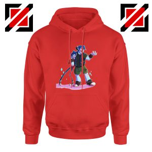 Disney Onward Film Hoodie Barley Lightfoot Hoodie Size S-2XL Red