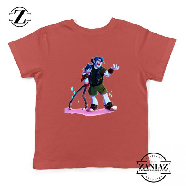 Disney Onward Film Kids T-Shirt Barley Lightfoot Youth Shirts Size S-XL Red