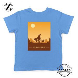 Earthy Mandalorian Kids Shirts Star Wars TV Series Youth Tshirt Size S-XL