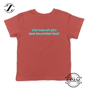 Evil Girls Kids T-Shirt Juice Wrld Rapper Youth Shirts Size S-XL Red