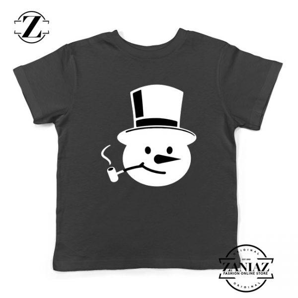 Frosty The Snowman Kids T-Shirt Christmas Gift Youth T-Shirt Black