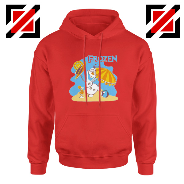 Frozen Olaf Playing Hoodie Disney Women Hoodie Size S-2XL Red