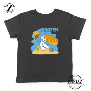 Frozen Olaf Playing Kids Shirt Disney Youth Tee Shirt Size S-XL Black