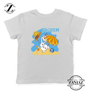 Frozen Olaf Playing Kids Shirt Disney Youth Tee Shirt Size S-XL White