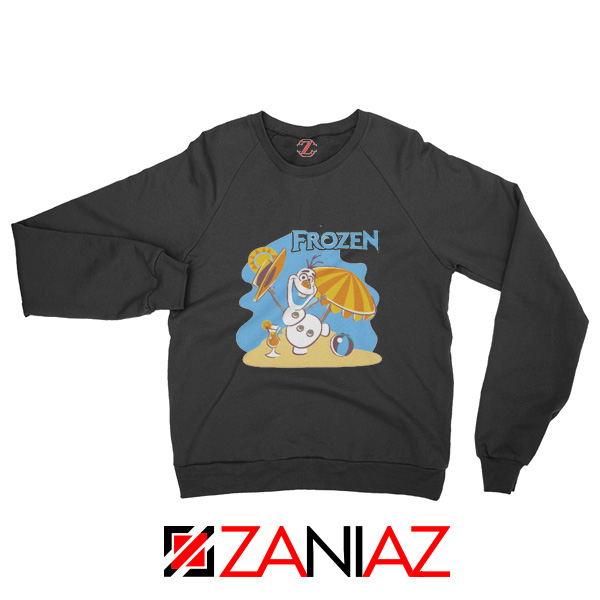 Frozen Olaf Playing Sweatshirt Disney Women Sweatshirt Size S-2XL Black