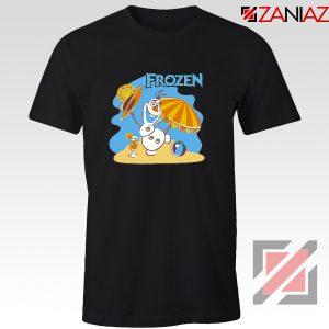 Frozen Olaf Playing Tee Shirt Disney Women T-Shirt Size S-3XL Black