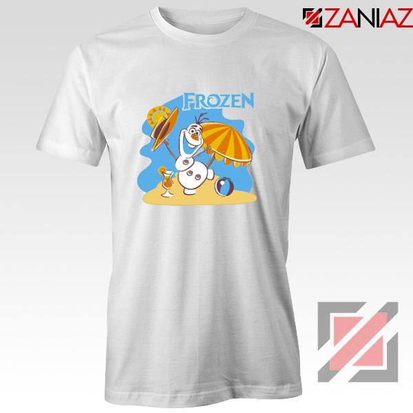 Frozen Olaf Playing Tee Shirt Disney Women T-Shirt Size S-3XL White