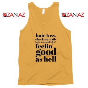 Good As Hell Lyrics Tank Top Lizzo Lyrics Best Tank Top Size S-3XL Sunshine