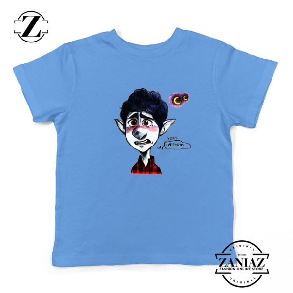 Ian Lightfoot Unicorn Youth T-Shirt Disney Onward Kids Shirts Size S-XL