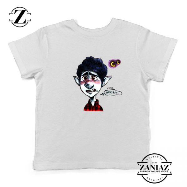 Ian Lightfoot Unicorn Youth T-Shirt Disney Onward Kids Shirts Size S-XL White