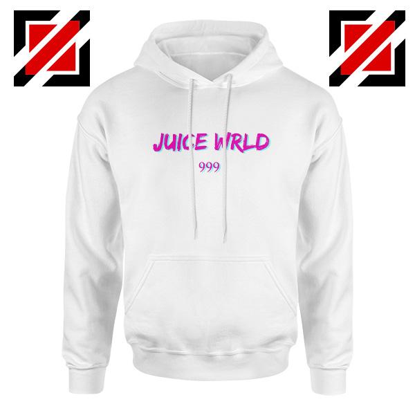 Juice WRLD 999 Text Hoodie American Rapper Hoodie Size S-2XL White