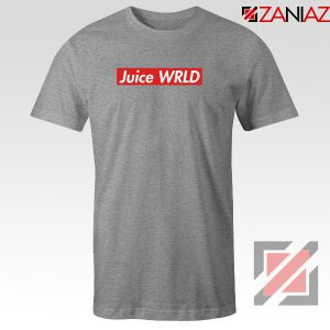 Juice WRLD Box Logo T-Shirt Supreme Parody T-Shirt Size S-3XL Sport Grey
