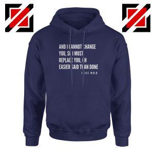 Juice WRLD Hip Hop Hoodie American Rapper Hoodie Size S-2XL Navy Blue