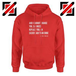 Juice WRLD Hip Hop Hoodie American Rapper Hoodie Size S-2XL Red