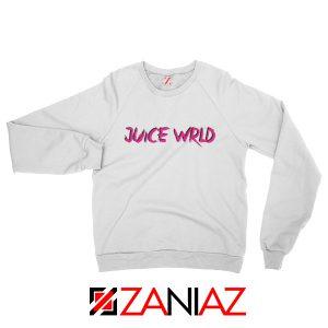 Juice WRLD Logo Pink Sweatshirt Rapper Hiphop Sweatshirt Size S-2XL White