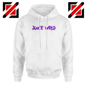 Juice WRLD Purple Logo Hoodie Hiphop Music Hoodie Size S-2XL White