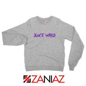 Juice WRLD Purple Logo Sweatshirt Hiphop Music Sweatshirt Size S-2XL