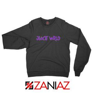 Juice WRLD Purple Logo Sweatshirt Hiphop Music Sweatshirt Size S-2XL Black