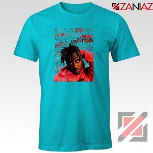 Juice Wrld Album Music T-Shirt American Rapper T-Shirt Size S-3XL Light Blue