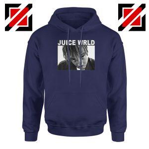 Juice Wrld Face Hoodie Music Legend Hoodie Size S-2XL Navy Blue