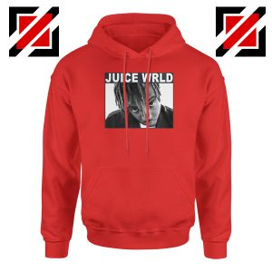 Juice Wrld Face Hoodie Music Legend Hoodie Size S-2XL Red