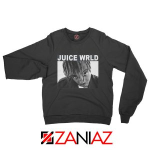 Juice Wrld Face Sweatshirt Music Legend Sweatshirt Size S-2XL Black