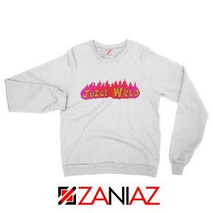 Juice Wrld Fire Sweatshirt Best American Singer Sweatshirt Size S-2XL White