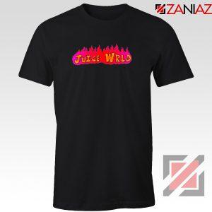 Juice Wrld Fire T-Shirt Best American Singer Tee Shirt Size S-3XL Black
