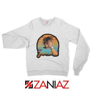 Juice Wrld Lovers Gift Sweatshirt American Rapper Sweatshirt Size S-2XL White