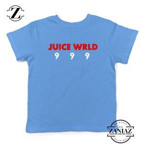 Juice Wrld Music Kids T-Shirt American Music Youth Shirts Light Blue