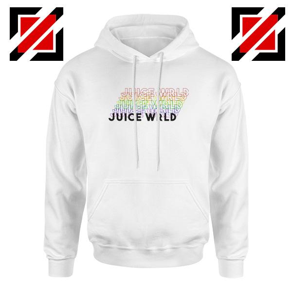 Juice Wrld Rainbow Hoodie Juice Wrld Hoodie Size S-2XL White