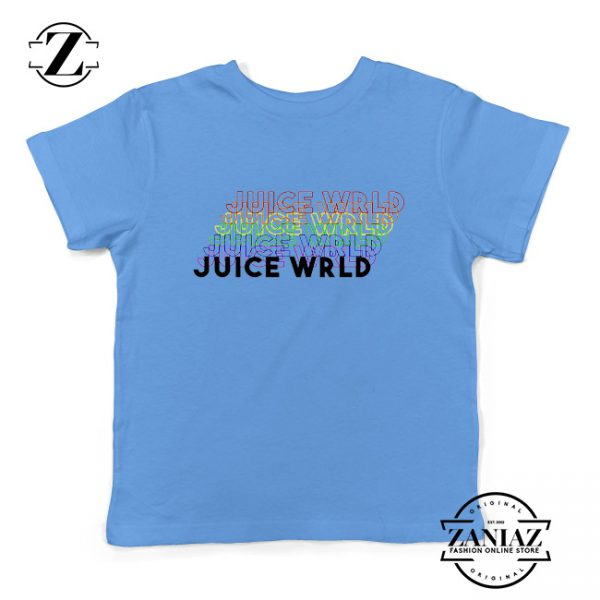 Juice Wrld Rainbow Kids T-Shirt Juice Wrld Youth Shirts Size S-XL