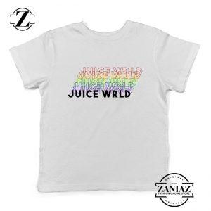 Juice Wrld Rainbow Kids T-Shirt Juice Wrld Youth Shirts Size S-XL White