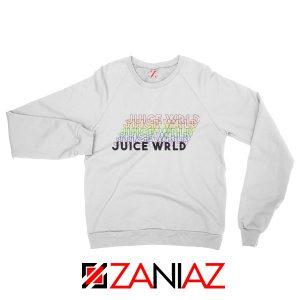 Juice Wrld Rainbow Sweatshirt Juice Wrld Sweatshirt Size S-2XL White