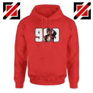 Juice Wrld Rap Hip Hop Hoodie American Music Hoodie Size S-2XL Red